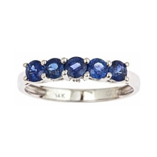 Ring with sapphires and diamonds - Sapphire rings