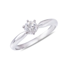 Diamond engagement ring in 14kt white gold - Solitaire Engagement Rings
