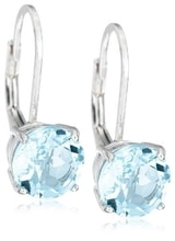 SILVER EARRINGS WITH BLUE TOPAZ - TOPAZ EARRINGS - EARRINGS