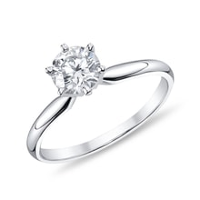 Diamond Engagement Ring in White Gold - Solitaire Engagement Rings