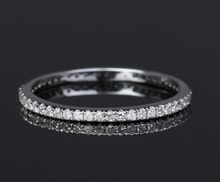 WEDDING RING WITH DIAMONDS 0.27CT IN WHITE GOLD - WOMEN'S WEDDING RINGS - WEDDING RINGS