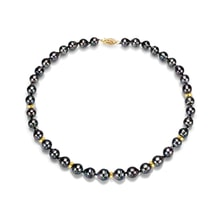Gold necklace with Tahitian pearls - Tahitian pearls