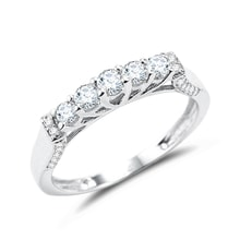 Diamond wedding ring in 14kt white gold - Diamond Rings