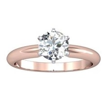 Rose gold engagement ring with brilliant - Brilliant engagement rings