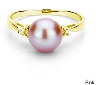 GOLD PLATED PEARL RING - PEARL RINGS - PEARLS