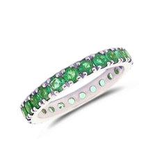 Emerald gold ring in 14kt white gold - Emerald Rings