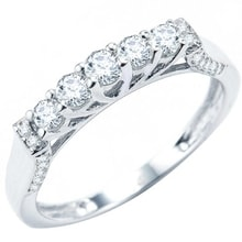 DIAMOND WEDDING RING IN WHITE GOLD - DIAMOND RINGS - RINGS