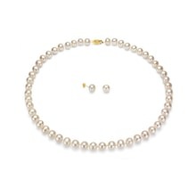 PEARL SET OF NECKLACE AND EARRINGS - PEARL SETS - PEARLS