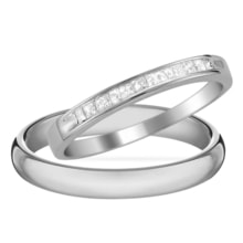 WEDDING RINGS IN WHITE GOLD AND DIAMONDS - DIAMOND WEDDING RINGS - WEDDING RINGS WITH GEMSTONES