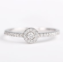 White gold engagement ring with diamonds - Diamond engagement rings