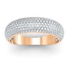 GOLD RING WITH DIAMONDS - DIAMOND RINGS - RINGS