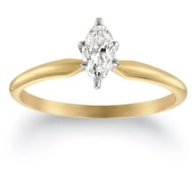GOLDEN ENGAGEMENT RING WITH DIAMOND - GOLD RINGS - RINGS