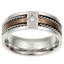 Two-tone stainless steel ring - Jewellery Sale