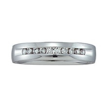 Ring made of white gold with diamonds - Men Rings