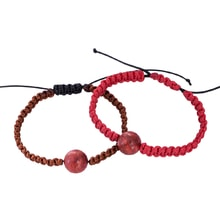 SET OF TWO BRACELETS WITH CORAL - WOMEN'S BRACELETS - JEWELLERY BY KLENOTA