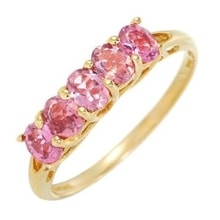 GOLDEN RING WITH TOURMALINES - TOURMALINE RINGS - RINGS