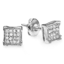 DIAMOND EARRINGS IN SILVER - DIAMOND EARRINGS - EARRINGS