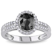 Diamond ring in white gold - Diamond rings