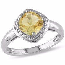 STERLING SILVER RING CITRINE - JEWELLERY SALE