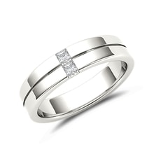 Men's diamond ring in 14kt white gold - Rings for Him