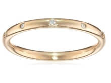 YELLOW GOLD RING WITH DIAMONDS - WOMEN'S WEDDING RINGS - WEDDING RINGS WITH GEMSTONES