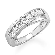 Men's anniversary ring in 14kt white gold - Men's Rings