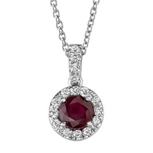 RUBY PENDANT WITH DIAMONDS - RUBY PENDANTS - PENDANTS