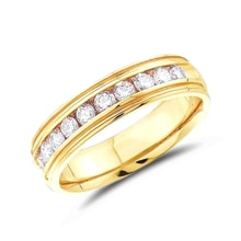 Men's anniversary ring in 14kt gold - Men's Rings