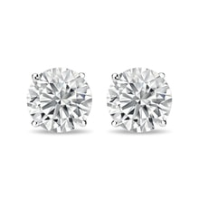 Diamond earrings 1kt in 14kt gold - Stud Earrings