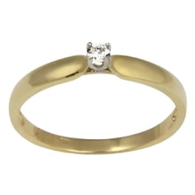 GOLD RING WITH A DIAMOND - DIAMOND ENGAGEMENT RINGS - ENGAGEMENT RINGS WITH GEMSTONES