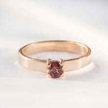 Rose gold band with tourmaline - Engagement rings with gemstones