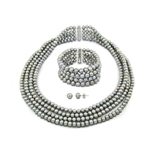 SET OF PEARL GRAY FRESHWATER PEARLS - PEARL SETS - PEARLS