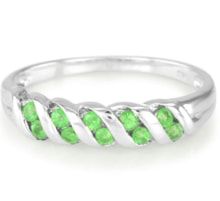 Sterling silver Ring tsavorite - Jewellery Sale