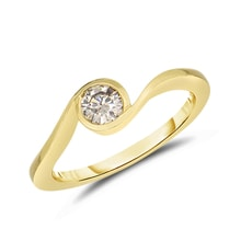 Gold ring with diamond - Engagement rings with fancy diamands