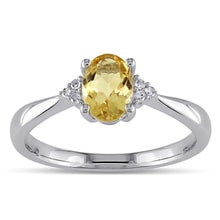 CITRINE RING - STERLING SILVER RINGS - RINGS