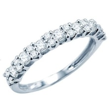 ANNUAL RING WITH DIAMONDS - WHITE GOLD RINGS - RINGS