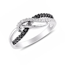 Diamond ring in sterling silver - Sterling silver rings