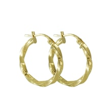 14kt gold hoop earrings - Yellow Gold Earrings