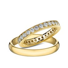 Gold diamond ring - Diamond wedding rings