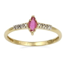 GOLD RING WITH RUBY ​​AND DIAMONDS - GOLD RINGS - RINGS