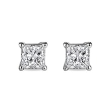 Diamond earrings in 14kt gold - Stud Earrings