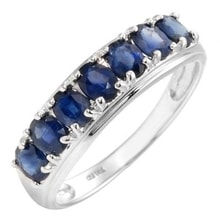 GOLDEN RING WITH SAPPHIRES 1.40 KT - SAPPHIRE RINGS - RINGS