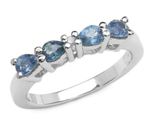 SILVER RING WITH BLUE SAPPHIRES - SAPPHIRE RINGS - RINGS