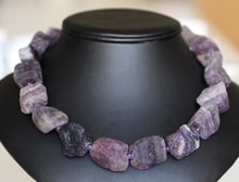 Amethyst necklace from unworked - Jewellery Sale