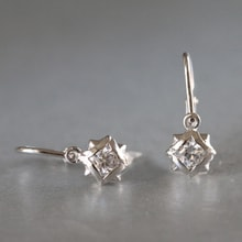Children earrings in white gold - White gold earrings