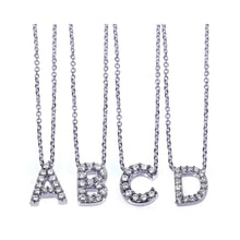 DIAMOND PENDANT SHAPED - DIAMOND LETTERS - PENDANTS