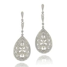 DIAMOND EARRINGS IN THE SHAPE OF A DROP - DIAMOND EARRINGS - EARRINGS