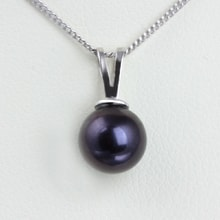 AKOYA PEARL PENDANT, WHITE GOLD - AKOYA CULTURED PEARLS - PEARLS