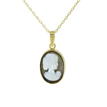 MEDALLION WITH THE MOTIF MADONKY - PEARL PENDANT - PEARLS
