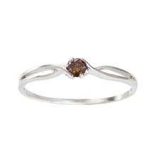 STERLING SILVER RING WITH RED DIAMOND - JEWELLERY SALE